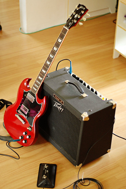 Photo:Gibson SG with Amp By Jackie L Chan
