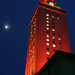 UT Tower and Moon by mr3wan