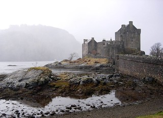 Eilean Donan in the chilly mist