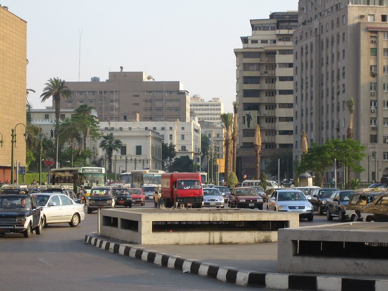 Busy Street in Cairo