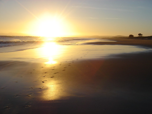 Beach Sunset with Footprints | Flickr - Photo Sharing!