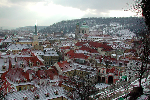 Prague Mala Strana Winter