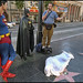Superman, Batman, Jesusman and the problem of the corpse on Hollywood Blvd.