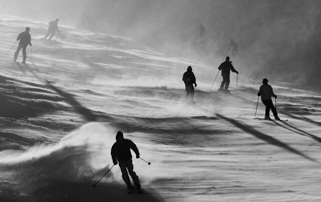 Les skieurs arrivent