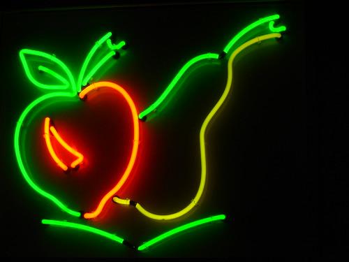 Neon fruits