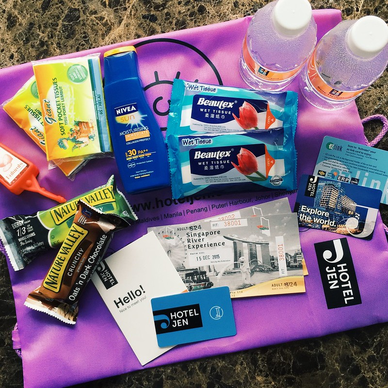 The survival kit and river cruise tickets for those who stays with Jen's City Adventure