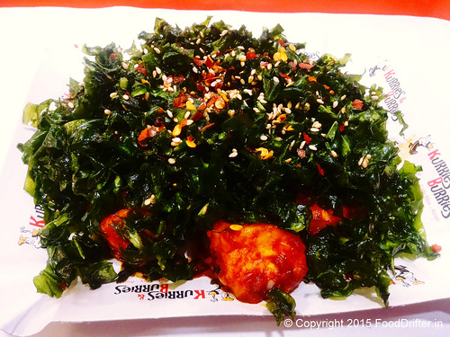 Crackled Spinach Chilly Paneer