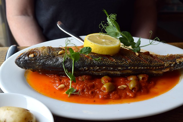 Sea Bass at The Boatyard, Isle of Man