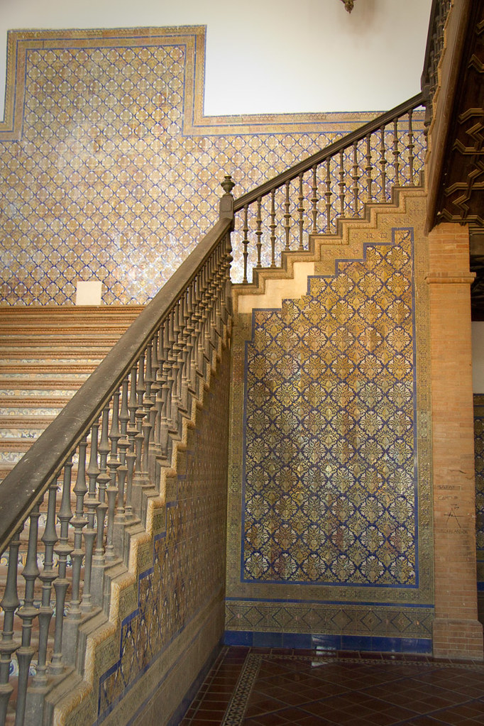 Staircases at Plaza de Espana | Seville, Spain