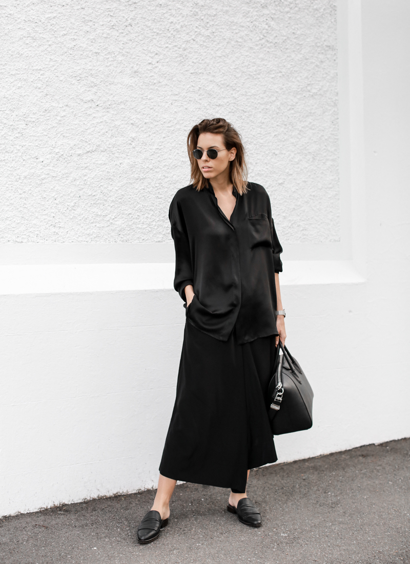 modern legacy, fashion blog, street style, blogger, all black, Bassike, Givenchy Antigona Medium, loafer mules, resort (1 of 1)
