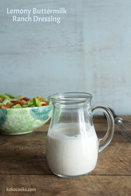a homemade version of the classic ranch dressing. Recipe on kokocooks.com