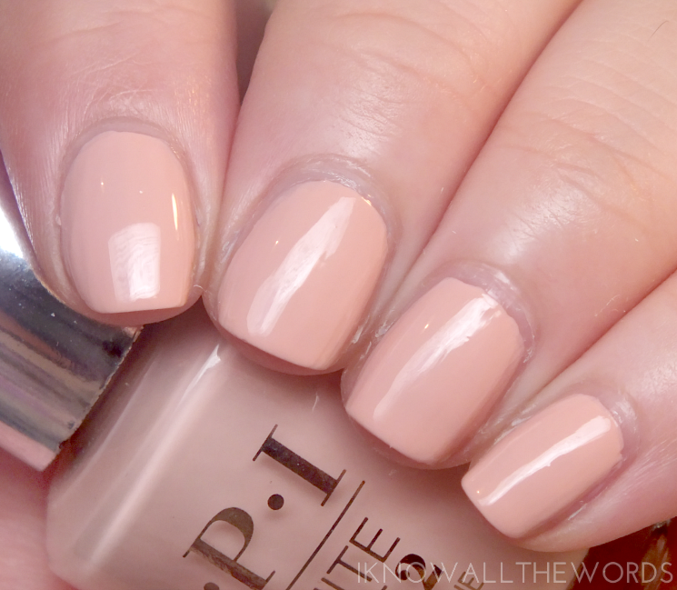 OPI infinite shine summer 2015 you're blushing again