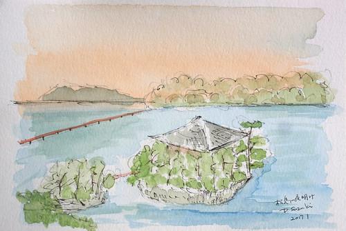 松島の夜明2