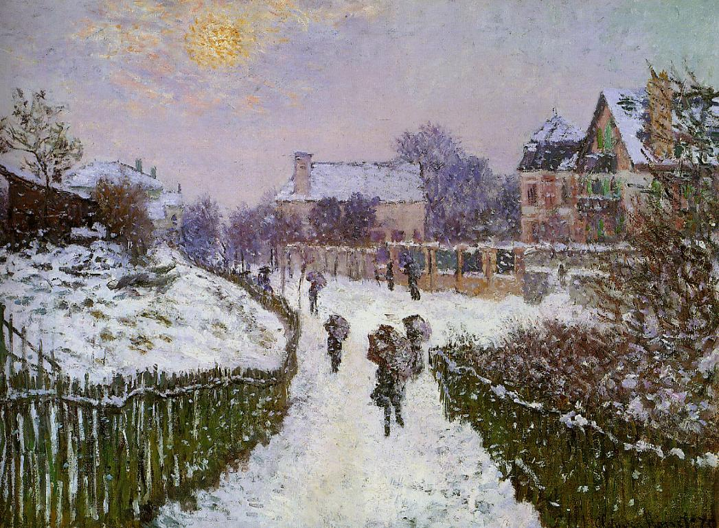 Boulevard St-Denis, Argenteuil, Snow Effect by Claude Oscar Monet - 1875