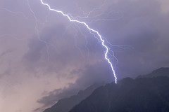 Lightning Strikes near Le Brévent