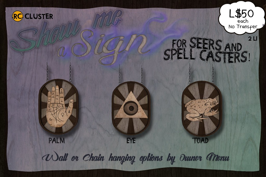 -RC- Show Me a Sign for Seers and Spell Casters! - SecondLifeHub.com