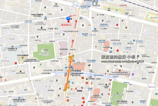 畫廊飯店中央路站地圖