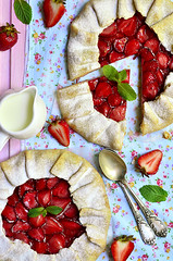 Strawberry galette.