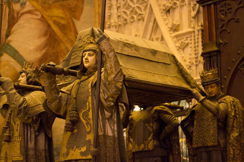 Tomb of Christopher Columbus in Cathedral of Seville