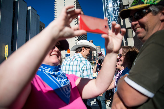 Justin Trudeau attends the Stampede parade in Calgary. July 3, 2015.