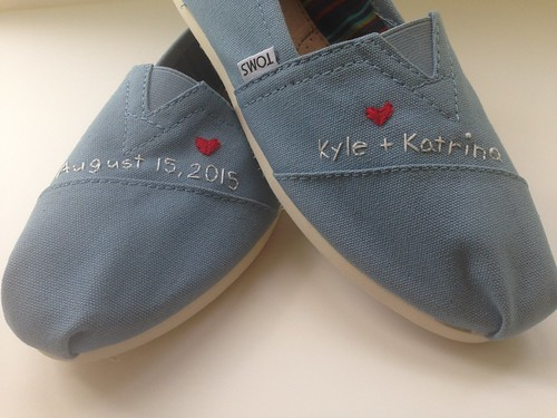 custom embroidered TOMS