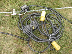 outdoor structure(0.0), bungee cord(0.0), rein(0.0), bridle(0.0), electrical wiring(1.0),