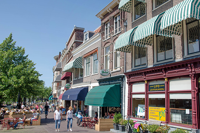 Center of Leiden, The Netherlands