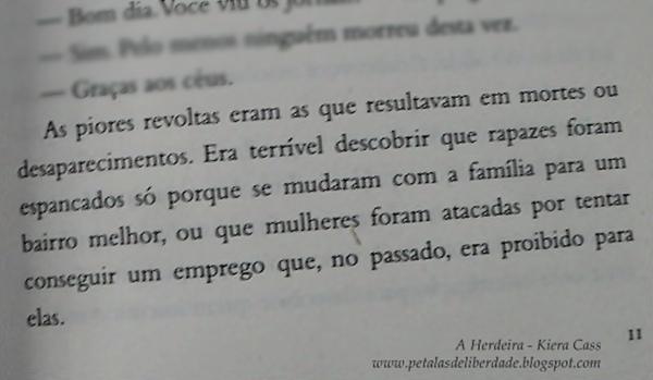 Resenha, quote, trecho, livro, A Herdeira, Kiera Cass, A Seleção, Editora Seguinte, princesa, Eadlyn, distopia, romance