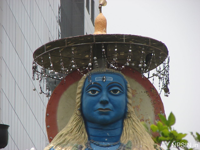 A close view of Large Kaal Bhairav statue
