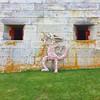 Individuals Collective at Georges Island #individualscollective @individualscollective #leon #wood #sculpture #art #streetart #harborislands #georgesisland #isledemonstruos