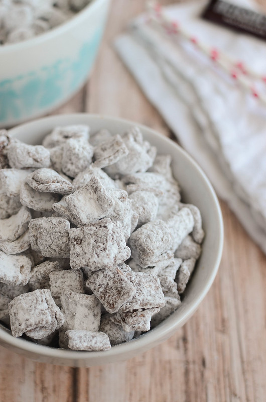 S'mores Muddy Buddies! Golden grahams cereal, chocolate, peanut butter, marshmallows!