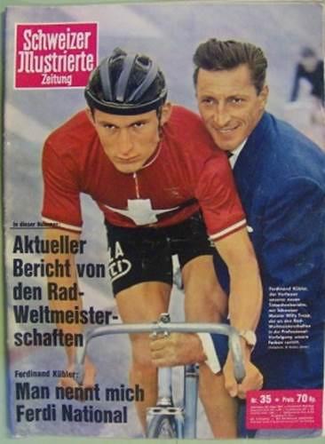Willy Trepp con la maglia di campione nazionale svizzero inseguimento individuale.