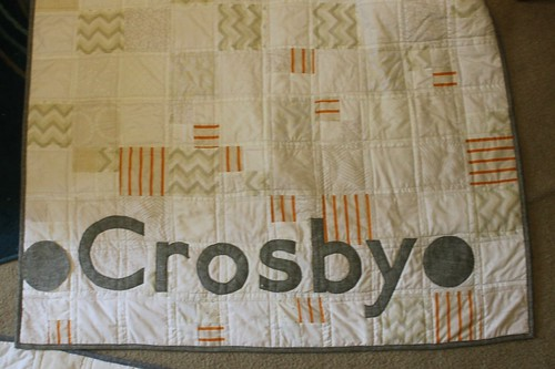 Baby Name Quilt - Neutrals and Linen
