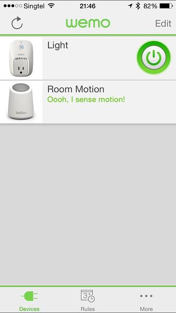 WeMo iOS App - Devices