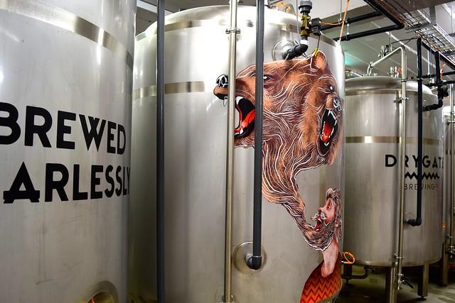 Inside Drygate Brewery, Glasgow