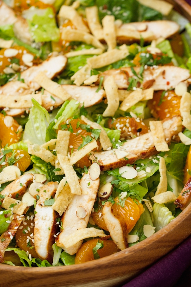 Asian chicken salad with cooked dressing