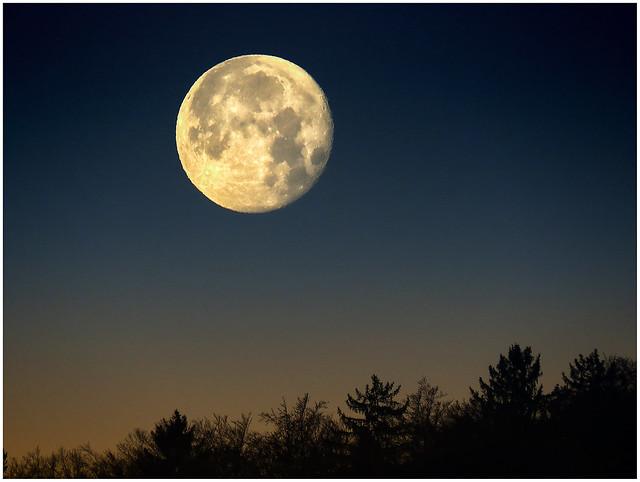 Moonset, 15th December 2016, Canon POWERSHOT SX540 HS