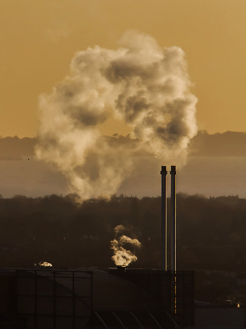 Portsmouth Incinerator Sunset