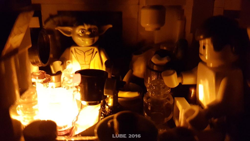 Yoda's hut - at night