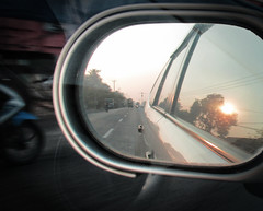 automobile, automotive exterior, automotive mirror, window, vehicle, rear-view mirror, light, glass, reflection, windshield, luxury vehicle,