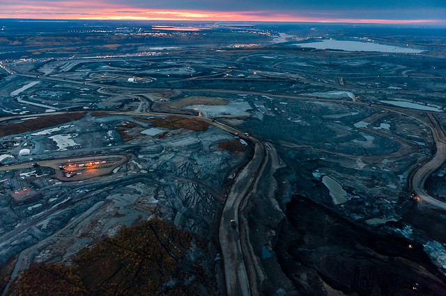 ariel view of the Tar Sands mine