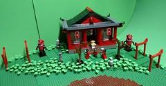 Shinto Shrine With Landscape