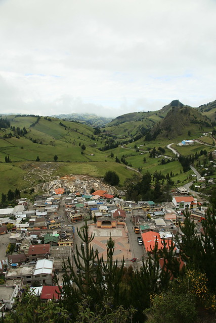 View from the cross looking down on Salinas, Ecuador