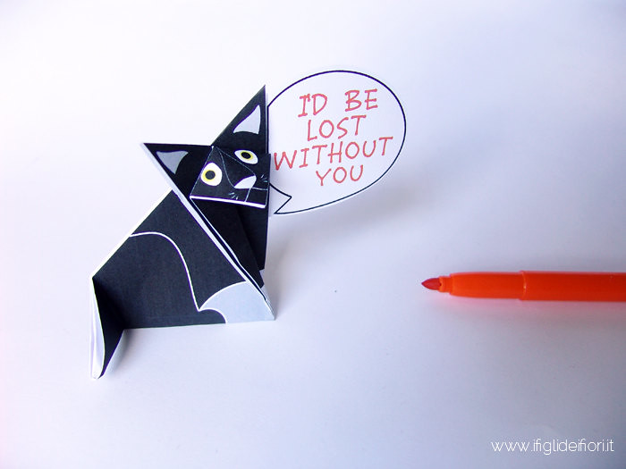 Chat origami à message