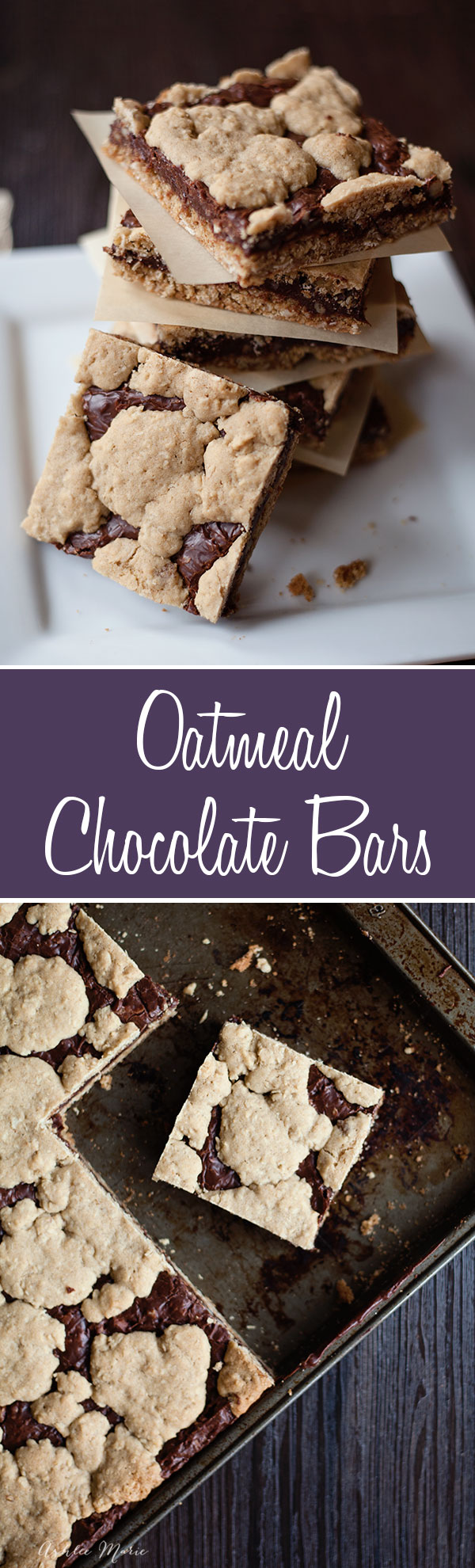 this oatmeal chocolate bar recipe makes a hgue pan and everyone loves it, perfect to make for a crowd