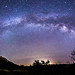 Milky Way panorama over Cuyamaca Rancho State Park by slworking2