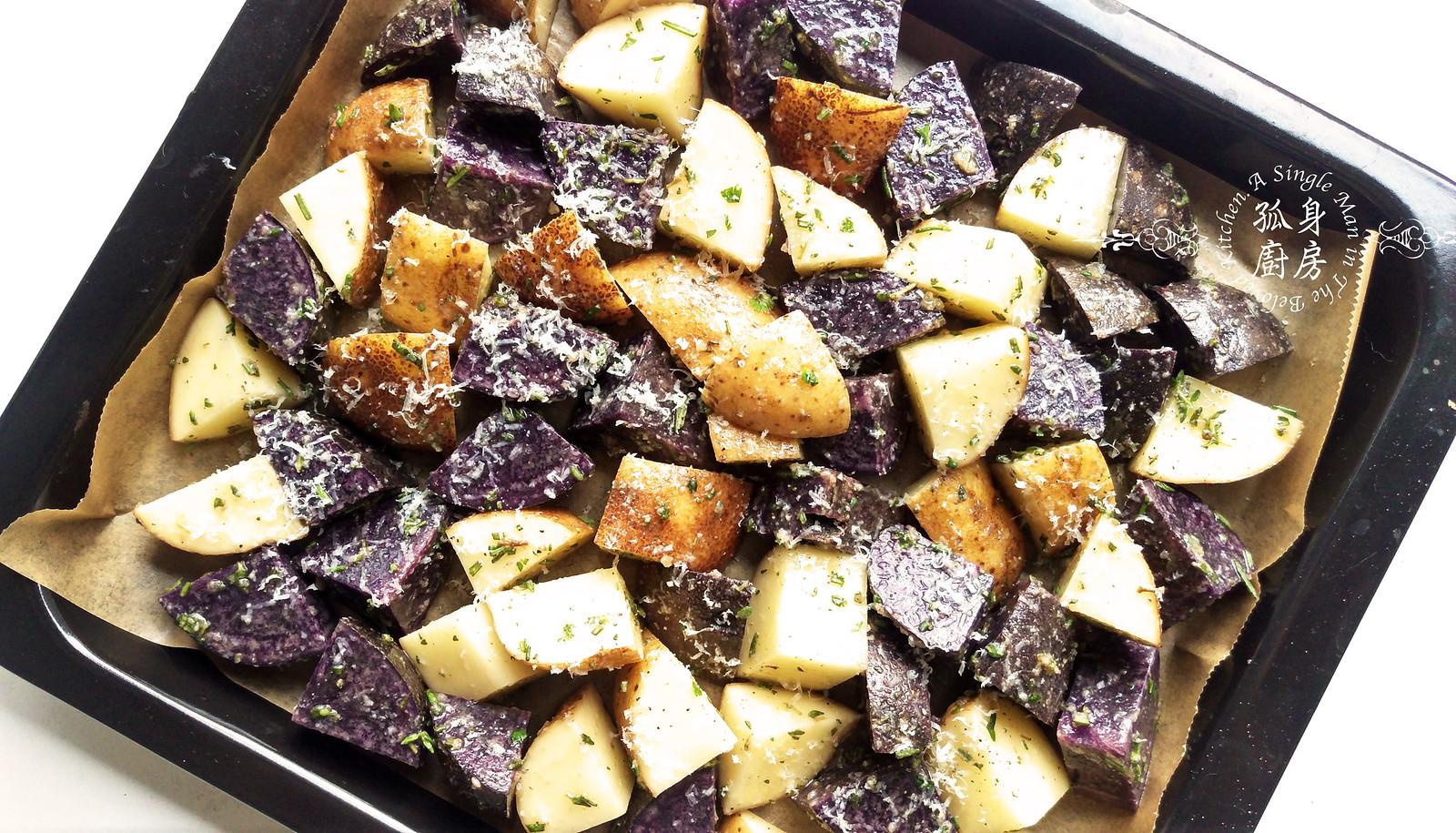 孤身廚房-香草烤雙色馬鈴薯──好吃又簡單的烤箱料理9