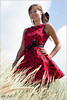 Panni in red Dress by Peter Heuts