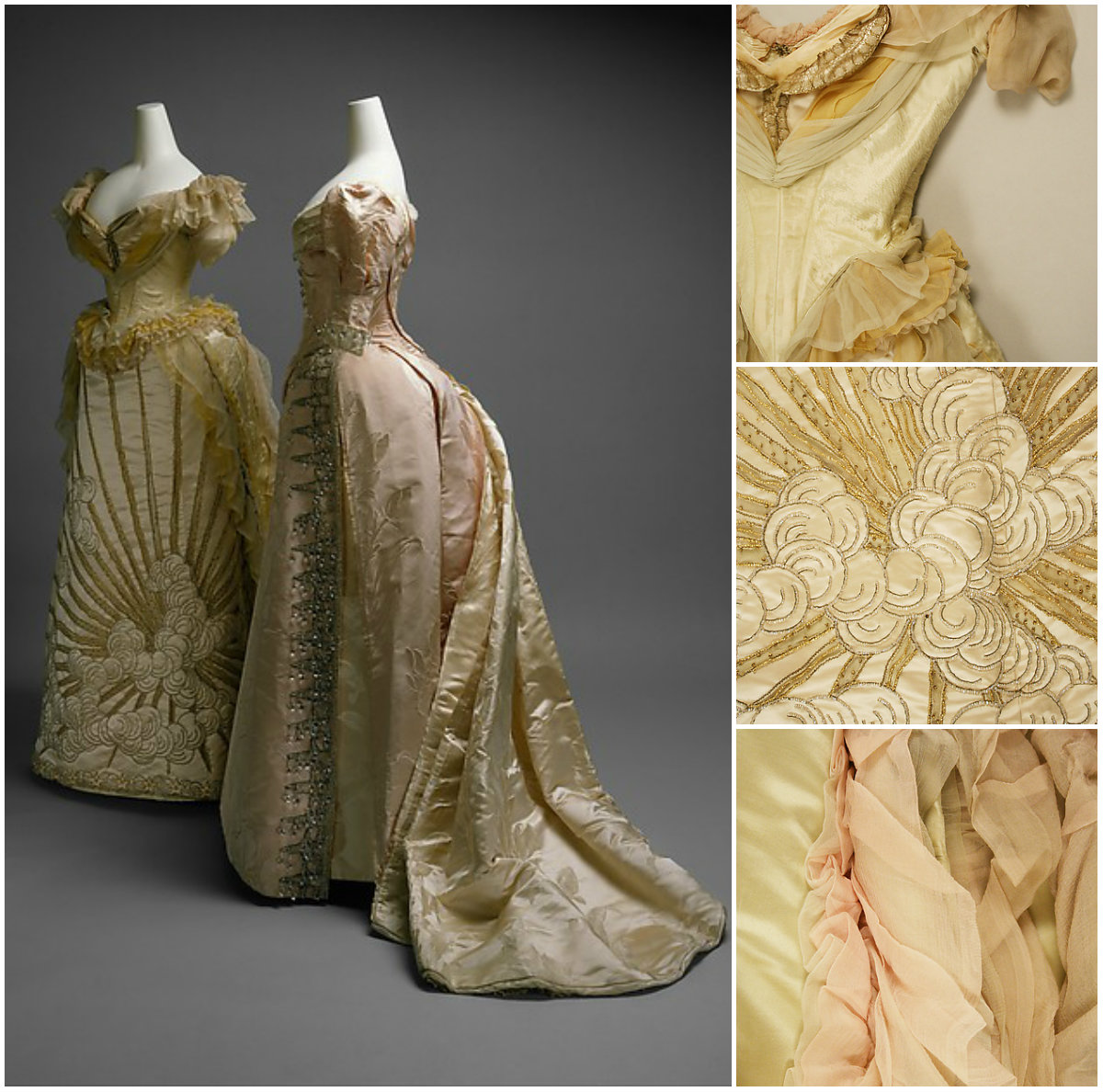1887. Ball Gown. Silk, glass, metallic thread. metmuseum