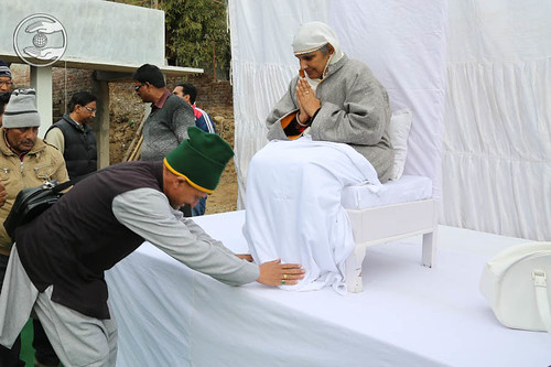 Local dignitary seeking blessings